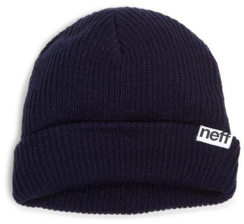 NEFF Men's fold Beanie, Navy One Size