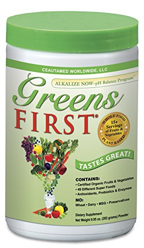 Alkalizing Powder (Greens First Nutrient Rich-Antioxidant SuperFood, 9.95 Ounces)