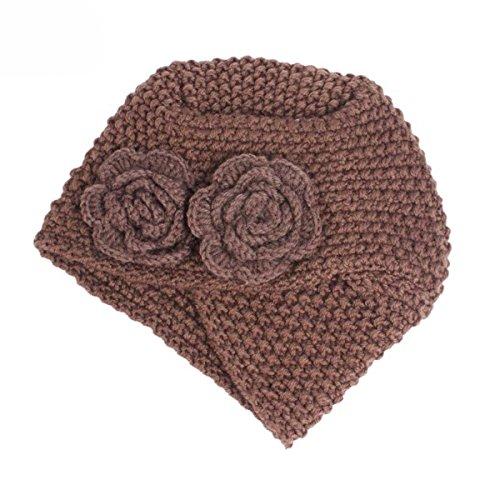 6306a0d11a3 TTjII Women Winter Knit Hat Wool Snow Ski Caps Beanie (Coffee ...
