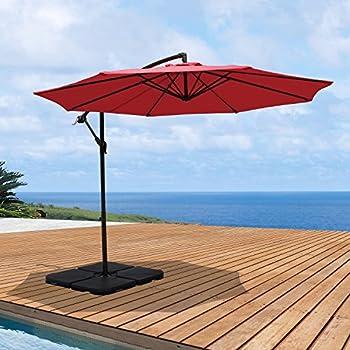 Amazoncom Best Choice Products Patio Umbrella Offset 10