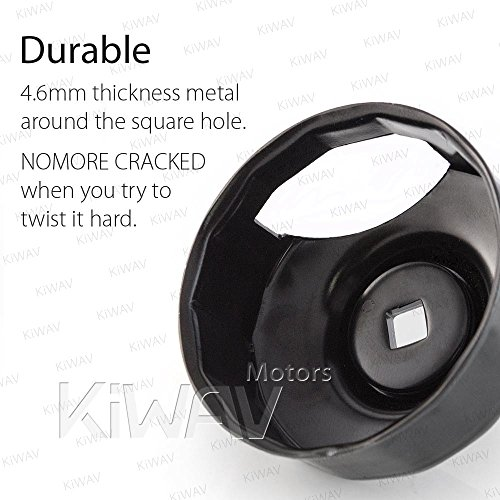 YHMTIVTU Motorcycle Oil Filter Cap Wrench for Harley Twin Cam Models with 76 x 14 Flutes Crank Sensor