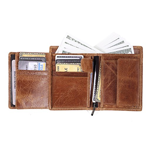 genuine leather wallet by IVESIGN with RFID blocking