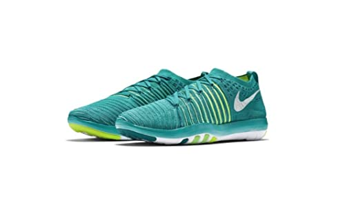 Nike Free Transform Flyknit Womens Running Trainers 833410 Sneakers Shoes (UK 6.5 US 9 EU 40.5, Clear Jade White Voltage Green 301)