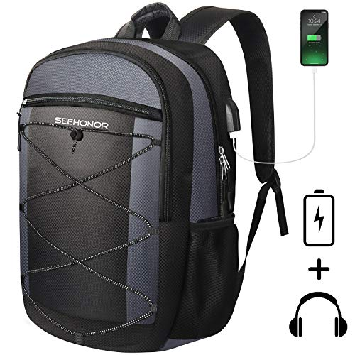 Laptop Backpack, SEEHONOR Travel Laptop Backpack with USB Charging Port, 15.6 Inch Slim Business Computer Backpack for… 1