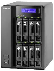 QNAP TS-809 Pro Turbo NAS - Unidad RAID (0 GB, Serial ATA II, 0 GB, Intel Core 2 Duo, 2,8 GHz, 2 GB)
