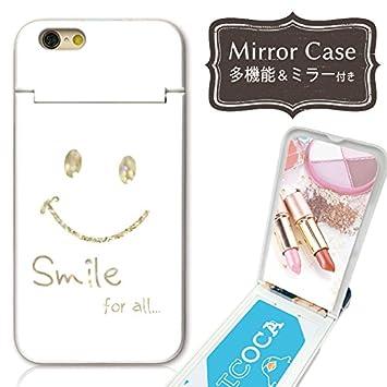4403f1f676 301-sanmaruichi- iPhoneXS ケース iPhone x ケース ミラーケース 鏡付き ミラー付き カード