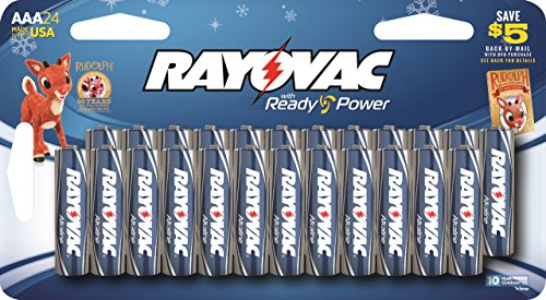 Rayovac AAA Alkaline Batteries 24 Pack - Made In USA!!!
