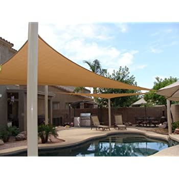 Mtn outdoorgear 20 39 x16 39 deluxe square for Shade sail cost