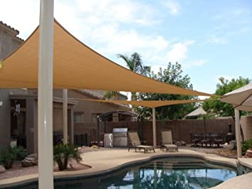 MTN OutdoorGear 20u0027x16u0027 Deluxe Square Retangle Sun Sail Shade Canopy Top    Beige