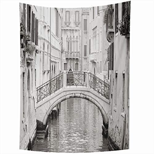 - Ahawoso Tapestry 50x60 Inches City Romantic Venetian Bridge American Black White Italy Venice Scenery Wall Hanging Home Decor Tapestries for Living Room Bedroom Dorm