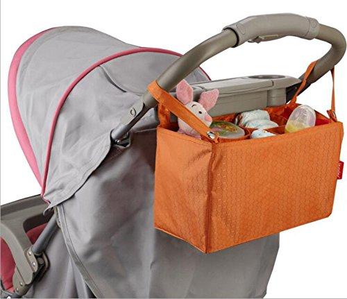 Ancdream Multifuncional bebé pañales Bolsas Organizador Bolsas de cambio para sillas de paseo bebé viaje portátil pañales bolsas para pañales bolsas Insertar Organizador para mamá con 7 bolsillos gris rosa