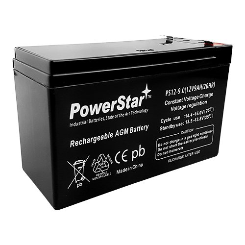 (POWERSTAR Replacement APC RBC5 12V 9AH Replacement Sealed Lead Acid Battery)