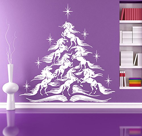 Fairy Tale Christmas Tree Fabulous Horse Kids Room Children Stylish Wall Art Sticker Decal (Fabulous Christmas Trees)