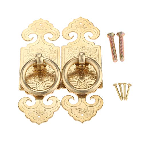 (A Pair Antique Chinese Pure Copper Straight Handle 10cm/12cm/15cm Door Hardware Furniture Classical Cabinet Drawer Copper Pull)
