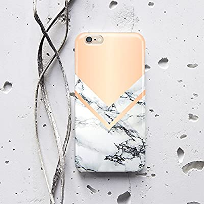 WolfCase Phone Full Wrap Sublimation Plastic Case for Samsung Galaxy S5 S6 S7 Edge Galaxy Note 4 5, White Marble with peach corner, f010