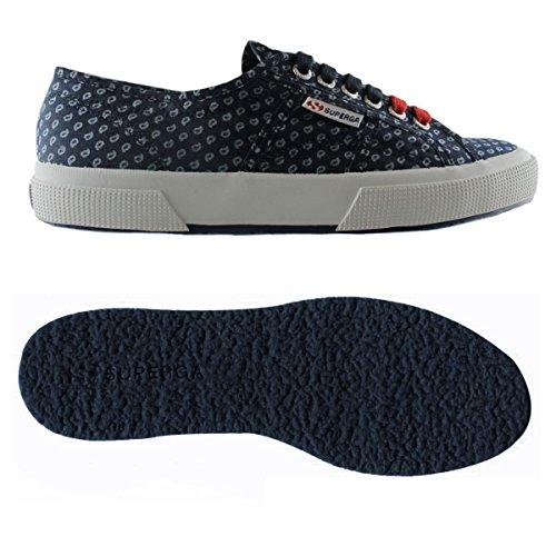 A Sneaker Indigo 2750 Cotm italianshirt Denim Blue Superga Basso Uomo Collo SIRqOttw