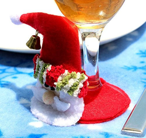 1Pc Christmas Santa Claus Wine Goblet Cup Glass Mat Pad Xmas Table Decor New