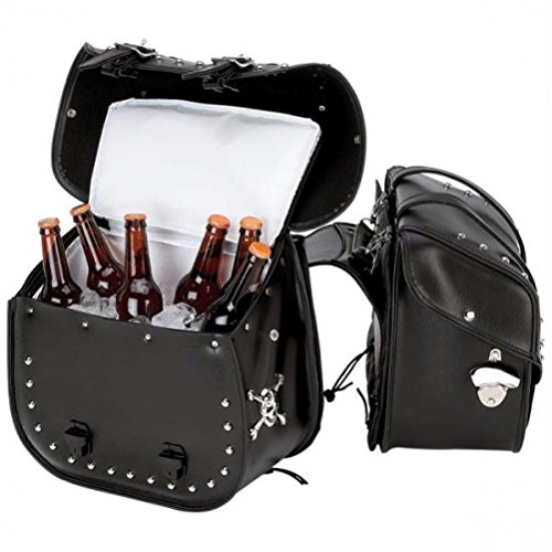 Beer Bags 4pc Studded Motorcycle Saddlebag Cooler Set by Beer Bags