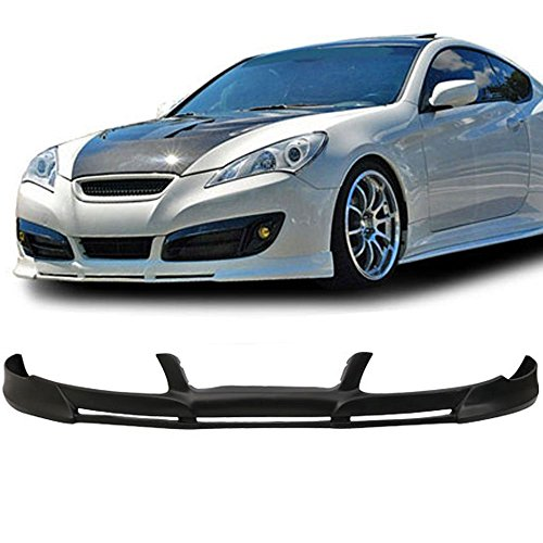 10-12 Hyundai Genesis 2dr Coupe PDG Add-On Front Bumper Lip Spoiler Bodykit Poly Urethane ()