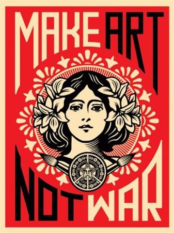 Make Art Not War Anti-War Peace Poster Print