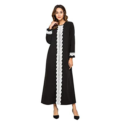 LILICAT✈✈ 2019 Bata Larga de Estilo musulmán de Estilo Nacional árabe Oriental Mujeres túnicas