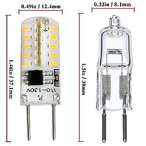 Kakanuo G8 LED Bulb Dimmable 2 Watt Warm White 3000K G8 Bi-Pin Base 40X3014SMD AC 110-130V for Under Counter Kitchen Lighting (Pack of 4)