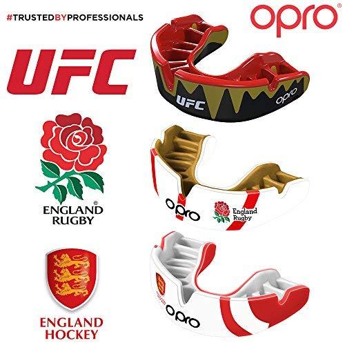 Spécial Bagues Dentaires Conçu et Fabriqué au Royaume-Uni MMA Football Américain Handball Rose Basketball pour Rugby Opro Protège-Dents Self Fit GEN 3 Gold Braces Auto-Ajustable Hockey