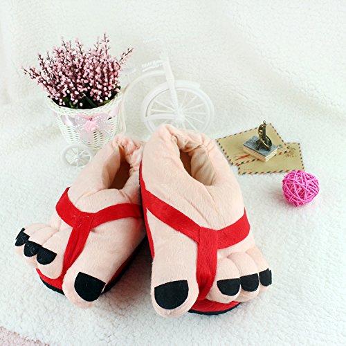 mhgao Cartoon creativo patrón de los dedos de los pies Zapatillas de algodón de la mujer Casual sandalias, 1, mediano 2