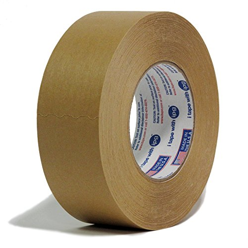 Intertape 534 'Industry Standard' Professional Industrial Moisture Resistant Medium Grade Flatback Paper Masking Tape - 2 Inch X 60 Yards - 24 Rolls per Order by Intertape