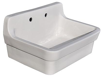Wall Hung Utility Sink.American Standard Plaster Wall Mounted Work Sink 9061 193 020