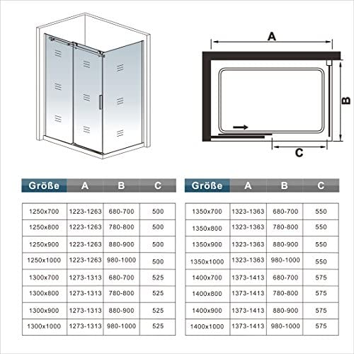 150x70x195cm Mamparas de ducha cabina de ducha 6mm vidrio templado ...