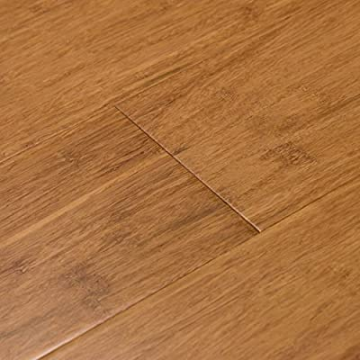 Cali Bamboo - Solid Wide Click Bamboo Flooring, Medium Mocha Brown, Carbonized - Sample