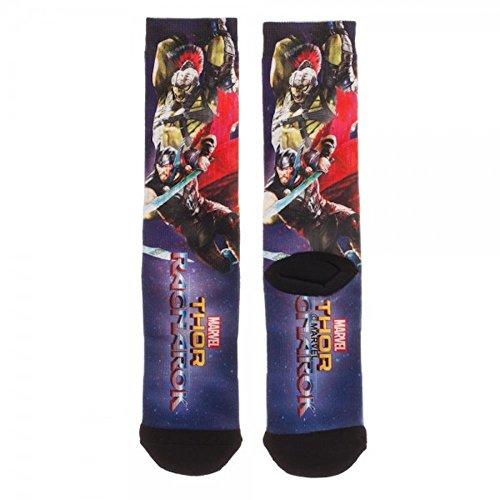 Thor Mens Socks (Thor Ragnarok Adult Men's Lightweight Polyester Socks)