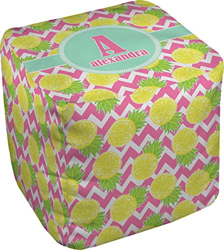 RNK Shops Pineapples Cube Pouf Ottoman - 13'' (Personalized) by RNK Shops (Image #2)