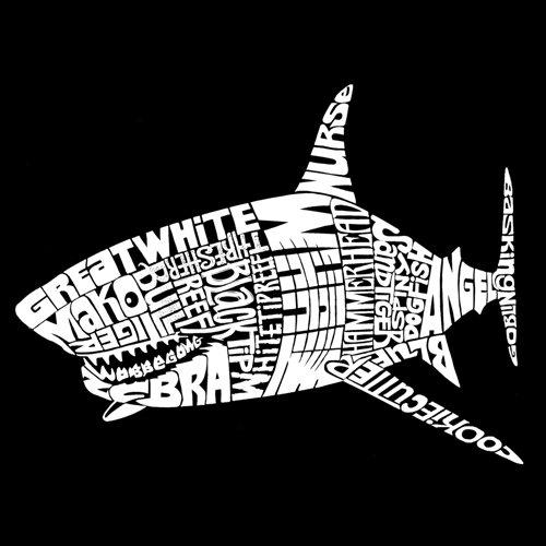 Species of Shark XXLarge Black Mens Hooded Sweatshirt