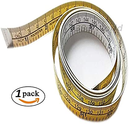 White 60 inch Flexible Ruler for Measuring Weight Loss Body Measurement Sewing Tailor Dressmaker Soft Tape Measure for Sewing Tailor Cloth Ruler
