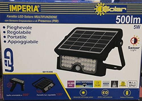 TEMPO DI SALDI Faretto A Led Da 300W Smd Con Pannello Solare Sensore Crepuscolare E Telecomando
