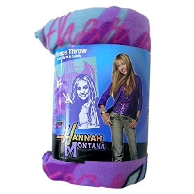 "Disney Hannah Montana ""Rock star"" Fleece Throw: Home & Kitchen"