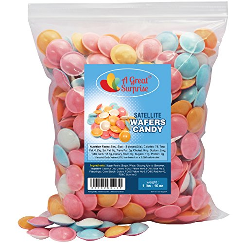 Satellite Wafers Candy, Original 1 LB Bulk Candy