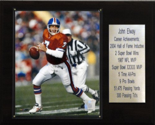 NFL John Elway Denver Broncos Career Stat Plaque