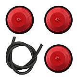 Butom Pack of 3 570682 570682A Primer Bulb with 32180C Fuel line for 951-10639A Ryobi Bolens Craftsman Troybilt MTD Snow Thrower Blower Tiller