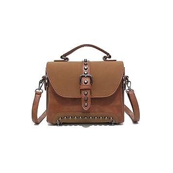 256b3f7f841c8 Fishbag Umhängetasche Wildleder Damen Messenger Taschen Handtaschen Nieten  Vintage Schule Schicke Junge Frauen Herbst Winter (