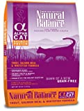 Natural Balance Alpha Grain-Free Trout, Salmon Meal, and Whitefish Formula for Cats, 10-Pound Bag, My Pet Supplies