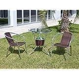 Kit mesa de jardim e balde de gelo com 2 Cadeiras