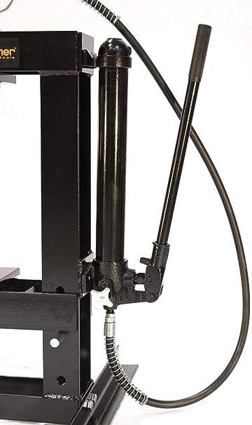 Werkstattpresse Mit Eingebaute Handpumpe Und Mit Manometer 10 T Sp10 Auto