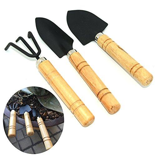 Shenglong Mini Gardening Plant Pot 3 pieces Gardening Tools Small Shovel/ Rake / Spade (Tools Small Gardening)