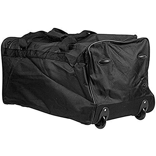 90L Reisetasche Sporttasche Trolley Tasche inkl. Schloss mit 2 Rollen, Teleskopgriff, 90 Liter Volumen, 2,1 kg Eigengewicht