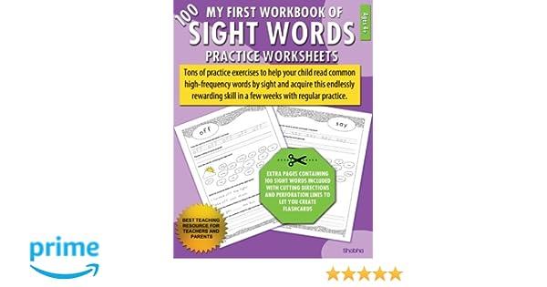 Amazon.com: My First Workbook of 100 Sight Words Practice ...