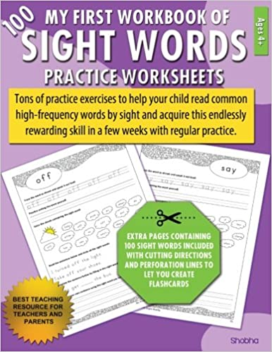 Amazon.com: My First Workbook of 100 Sight Words Practice ...