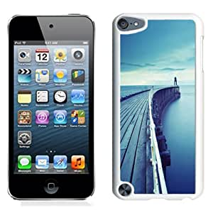 NEW Unique Custom Designed iPod Touch 5 Phone Case With Wood Dock Bridge Lake_White Phone Case